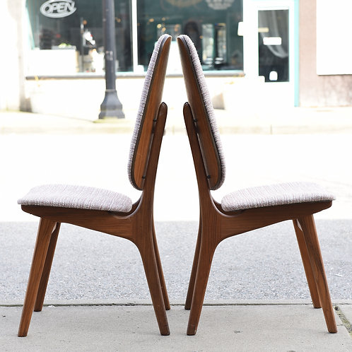 Pair of Danish MCM Dining Chairs by Arne Hovmand-Olsen