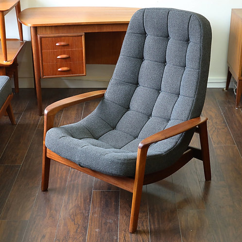 Vintage Canadian MCM Lounge Chair by R. Huber & Co.