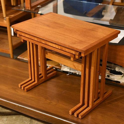 Mid Century Vintage Teak Nesting Tables