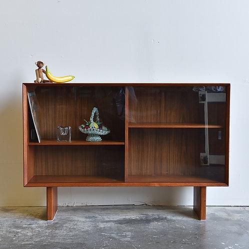 Vintage Danish Modern Teak Glass Cabinet