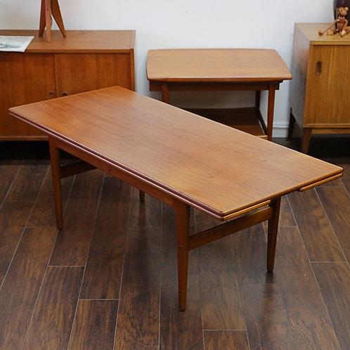 Danish Modern Teak Coffee & Dining Table By Kai Kristiansen
