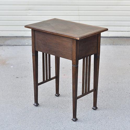 Vintage Antique German Oak Sewing/Hallway Table