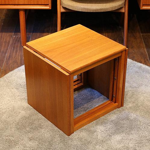 Vintage Teak Cube Nesting Tables