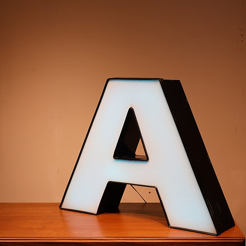 """Channel letter """"A"""" lamp"""
