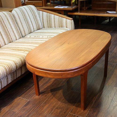 Vintage MCM SOLID Teak Oval Coffee Table