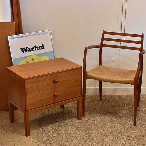 Mid-Century Danish Modern Teak Mini Dresser / Side Table