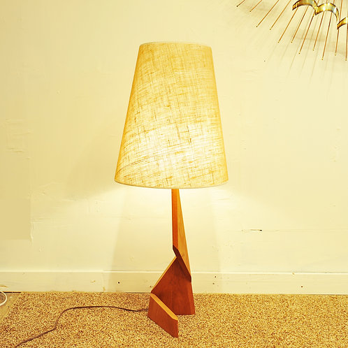 Vtg Teak MCM Table Lamp