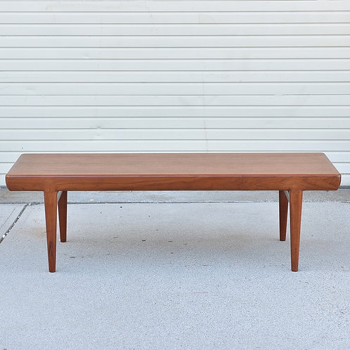 Danish Teak Coffee Table by J.Linde for C.F.Christensen A-S