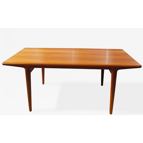 Teak Dining Table with Extensions by Niels Møller, Denmark, 1950s
