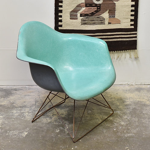 Rare Teal Eames Chair on Cradle Base