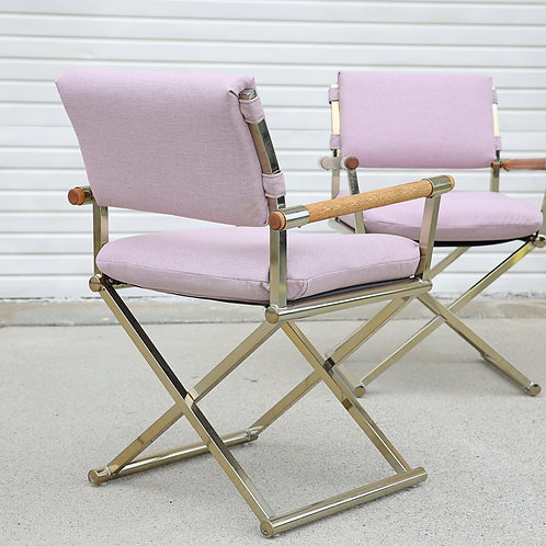 15%OFF, Pair of Milo Baughman's Style Directors Chairs