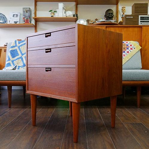 Unique pulls! Practical Danish Teak Compact Dresser