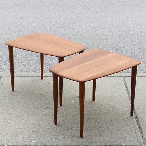 Pair of Danish Modern Teak Side Tables