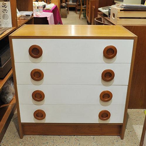 Vintage Danish Teak 4 Drawer Dresser