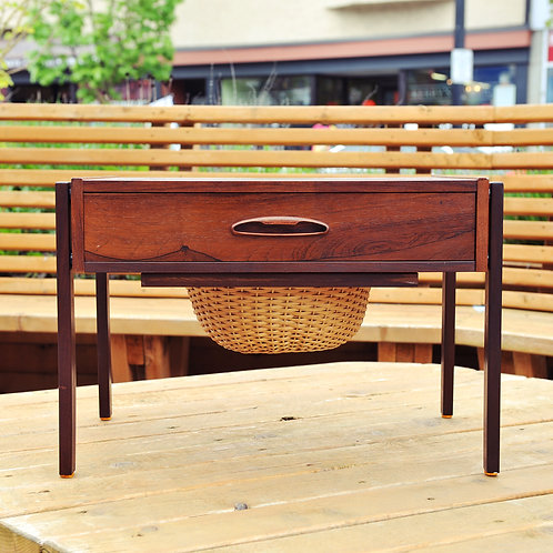 Danish Modern Rosewood Sewing Side/End Tables