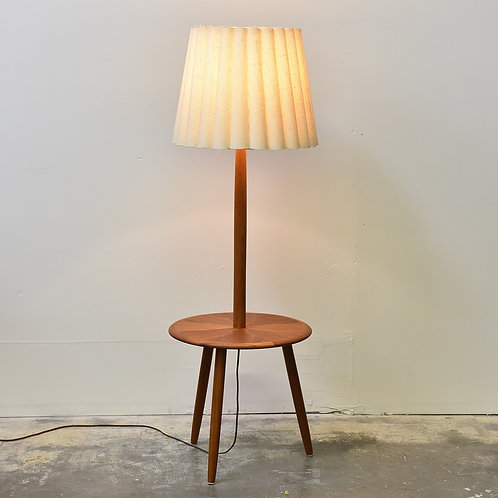 Vintage Mid-Century Modern 3 Legged Floor Lamp with Table