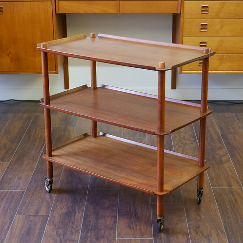 30% SALE Danish Mid-Century Modern Serving Cart by Poul Hundevad, Vamdrup