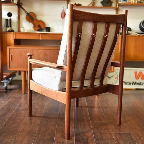 Vintage Norwegian Rosewood Lounge Chair by Torbjørn Afdal for Sandv