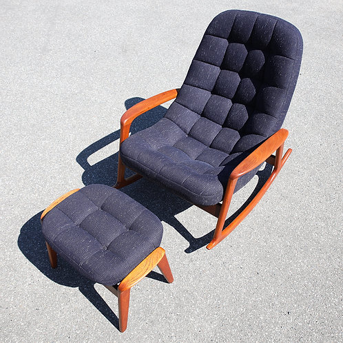 Iconic Canadian MCM Rocking Chair by R. Huber & Co.