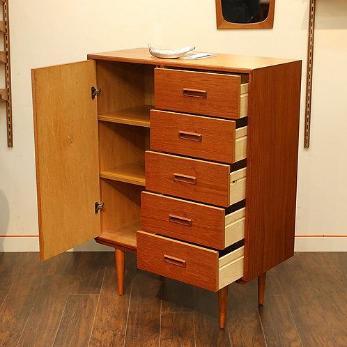 Vintage MCM TeakTeak Wardrobe Tallboy Dresser