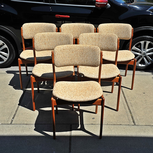 Quality Danish Dining Chairs Designed by Erik Buch