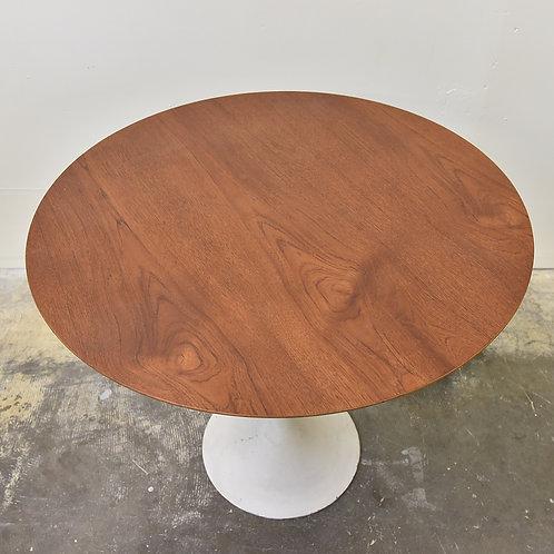 Vintage MCM Teak Tulip Base Table