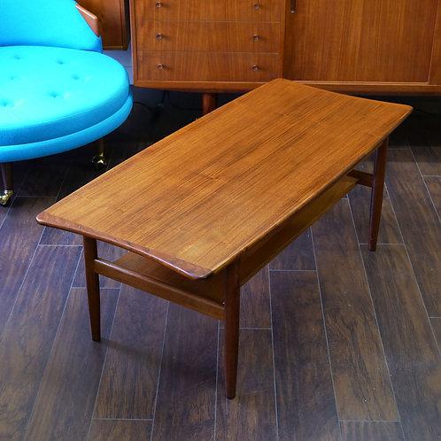 Vintage Mid-Century Modern Teak Coffee Table