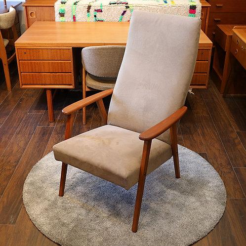 Vintage Swedish Mid-Century Modern Highback Lounge Chair