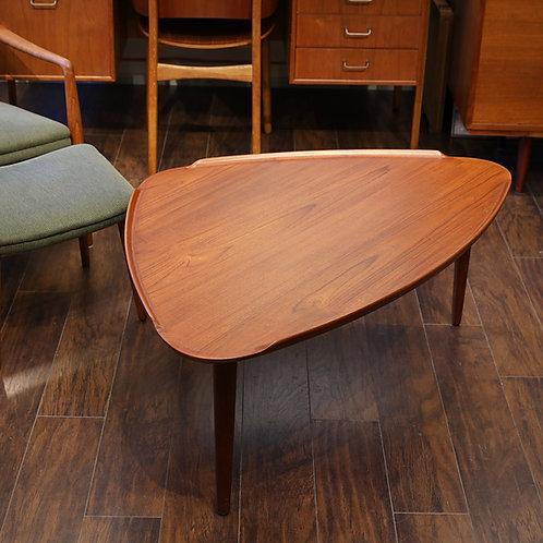 Danish Teak No.55 Triangle Coffee Table by Mobelintarsia