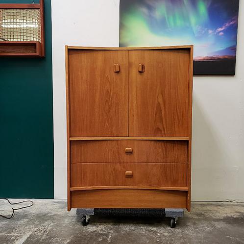 MCM teak cabinet, Unique bow front