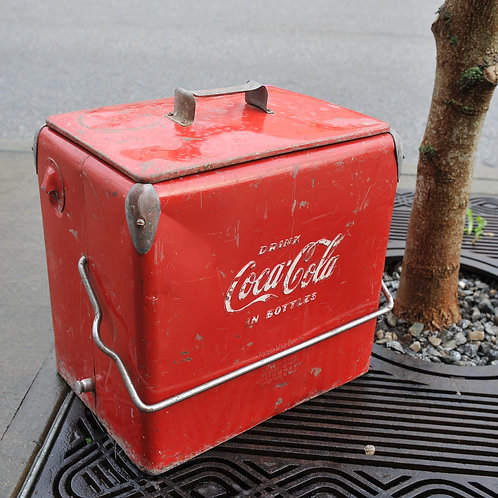 Vintage Rustic Coke Cooler