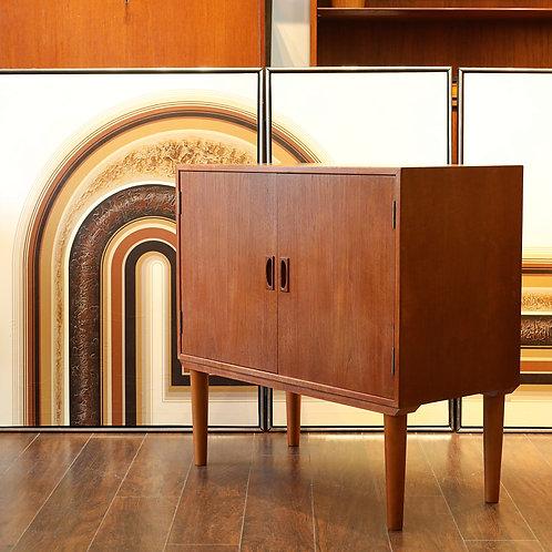 Danish Modern Teak Vinyl Cabinet