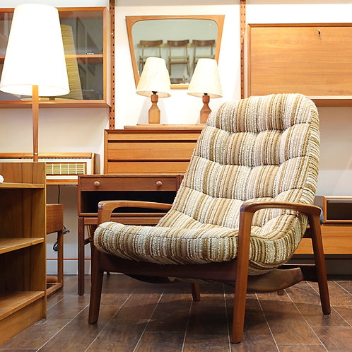 Iconic Canadian MCM Teak Lounge Chair by R. Huber & Co.