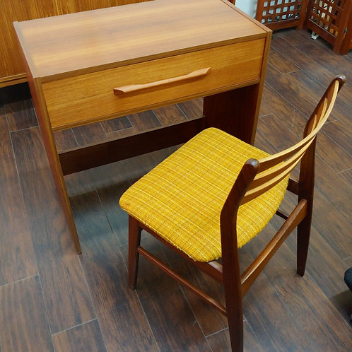 Vintage Teak Mini Desk/Vanit with a matching chair