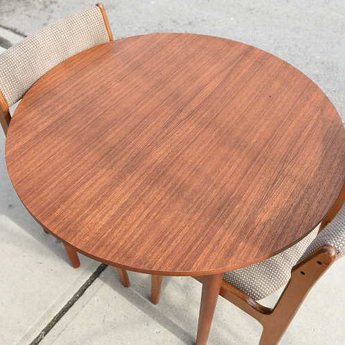Compact Vintage MCM Teak Kitchen Table