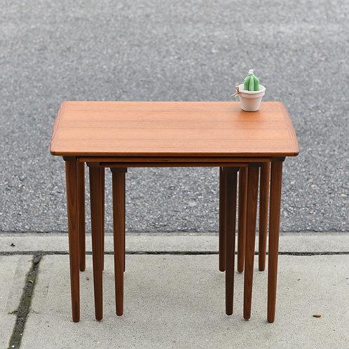 Adorable Danish Modern Teak Nesting Tables