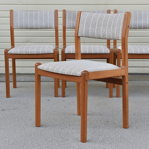 Vintage Danish Teak Model 12 Dining Chairs by J.L. Møllers Møbelfabrik