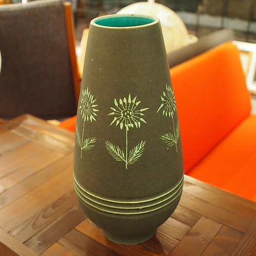 Vintage Green Italian Vase