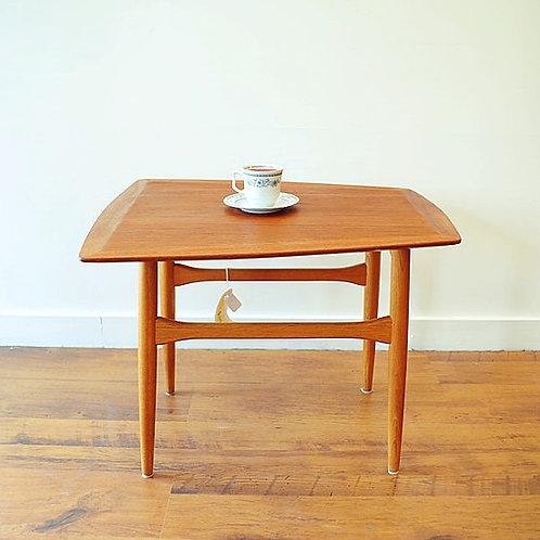 MCM Teak Trapezoid Shape Side Table
