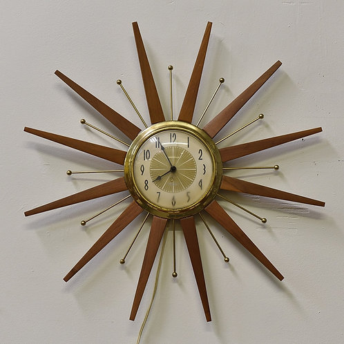 Vintage Electric Starburst Wall Clock by Westclox