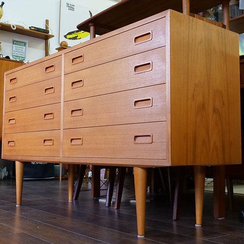 Danish Modern Teak 8 Drawers Dresser by Carlo Jensen for Hundevad & Co.