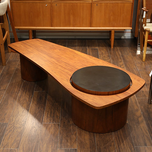 Iconic Canadian MCM Teak Coffee Table by RS Associates