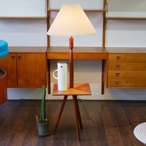 10%Off, Mid century modern 3 legged standing lamp (side table)
