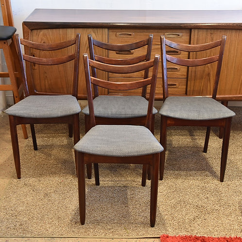 Set of 4 Vintage Mahogany Dining Chairs