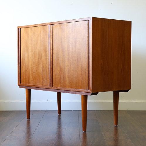 Danish modern teak Tambour doored cabinet