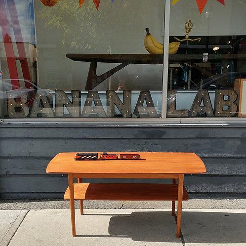 Vintage MCM Teak & Oak Coffee Table