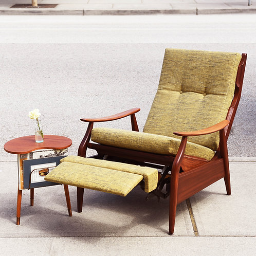 Vintage MCM Afrormosia Recliner by R.S. Associates LTD, Canada
