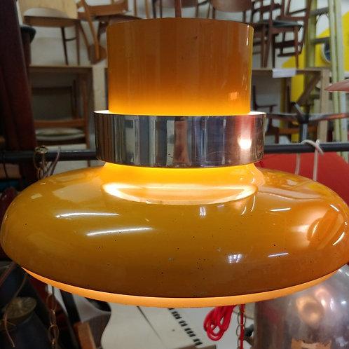 Fab, Yellow metal pendant lamp, vintage