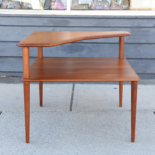 Danish Modern Solid Teak Minerva Corner Table