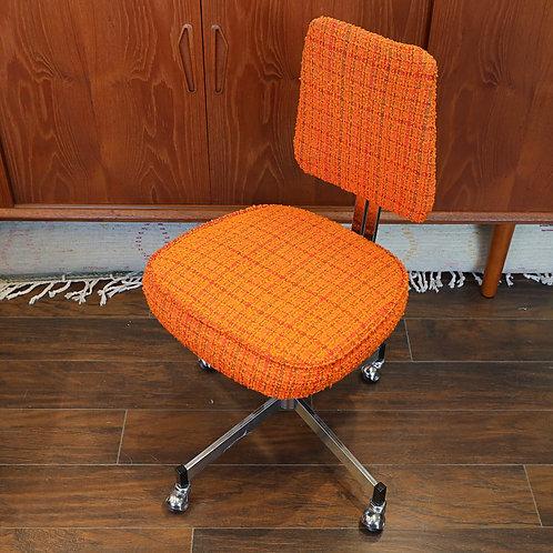 Vintage Orange Swivel Office Chair